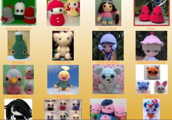 Lots of free amigurumi crochet patterns