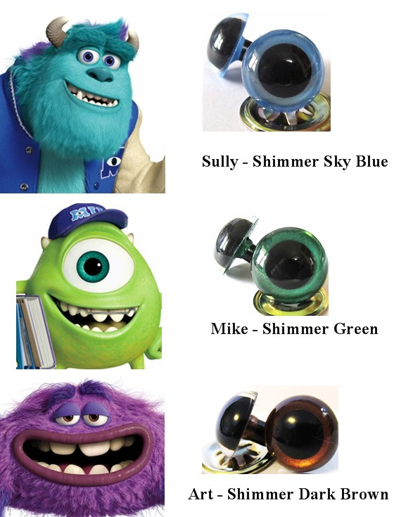 Monsters University eye colors