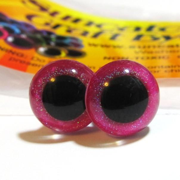 Glitter rose craft eyes, part of an order shipping to North Carolina tomorrow.
