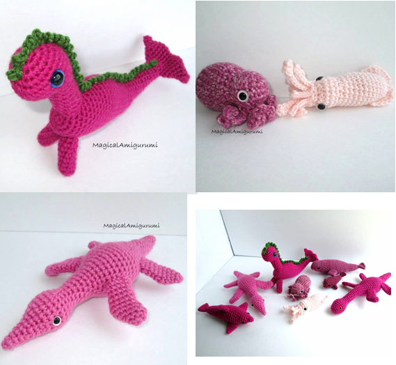 More pink critters by Magical Amigurumi