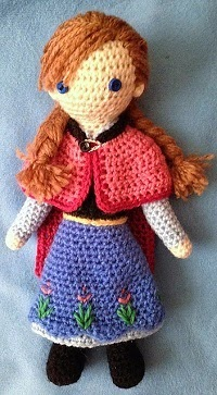 anna frozen crochet doll