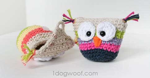 Owl pouch by One Dog Woof